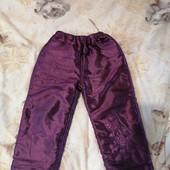 Тёплые штаны на подкладке на 3-4 года, в отличном состоянии