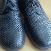 туфли плетенная кожа 28 см.очень интересная модель.
