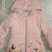 Красивая курточка на девочку 5-6лет замеры на фото