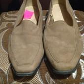 Туфли натуральный замш р.38