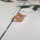 Позолоченное кольцо с ажурные узором p.16 позолота 585 пробы 18 карат