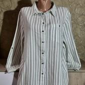 Собираем лоты!!! Стильная лёгкая рубашка, размер 16/44,100%котон
