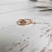 Позолоченное кольцо p.16 позолота 585 пробы 18 карат