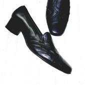 Чёрные кожаные туфли лоферы из натуральной кожи стелька 24.5 Ara