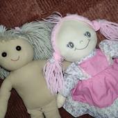 2 мягкие куколки одним лотом, волосы ниточки