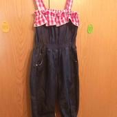 Літній джинсовий комбінізон на дівчинку 2-3рочки