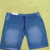 Светло синие котоновые шорты 4XL Livergy