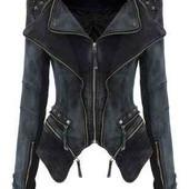 Классный трендовый джинсовый рок пиджак, куртка, джинсовая куртка с шипами  lookbook store