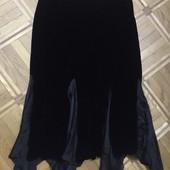 Бархатная с шелковыми вставками юбка оригинал 52-54 Polo Ralph Lauren