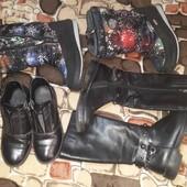 Лот обуви: деми ботинки и сапожки, зимние сапожки