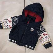 Стоп ,красота для модняхи❤ Фирменная курточка/безрукавка с вязаными рукавами,до года❤ Много лотов!