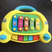 Ксилофон пианино свинка пепа фирма HTI toys!!! Состояние нового!!!