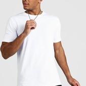 ☘ Лот 1 шт ☘ Біла базова футболка з чистої бавовни від Boohoo Man (Німеччина), розмір М