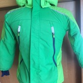 термо куртка, мембрана, весна, внутри флис, р. 7-8 лет 128 см. H&M sport. состояние отличное