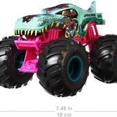Велика металева машинка Хот вілс Hot wheels monster trucks Zombie Wrex. Оригінал пошкоджена коробка
