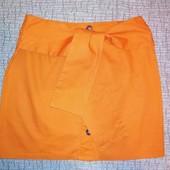 Яркая юбка с поясом