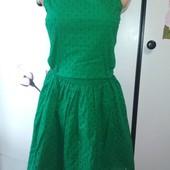 Зелёное платье из прошвы Topshop