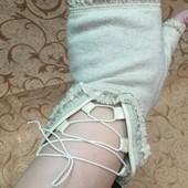 Моднявые перчатки без пальцев, кашемир