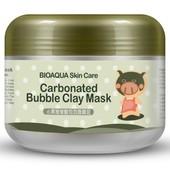 Кислородная маска пузырьковая очищающая Bioaqua skin care carbonated Bubble Clay mask