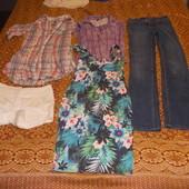 платье и пакет вещей