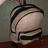 Маленький рюкзачок кожзам холст забираем