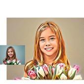 3 цифровых Портрета в стиле Арт-47, как в примерах.