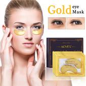Патчи коллагеновые под глаза Crystal collagen gold powder eye mask, в лоте одна пара