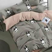 постельное белье комплект французкий бульдог собака