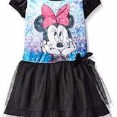 Черные бархатные платья Disney с принтом frozen elsa и Minnie Mouse, р-ры 86\92 см, цена 38$