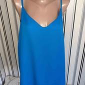 Синя майка-блуза  на підкладці з гарною спинкою Tu р22 Пог -63)