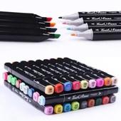 Набор спиртовых маркеров Touch Coco 36 цветов для рисования и скетчинга