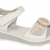Обалденные босоножки Tom.m для девочек открытые белые, размер 36