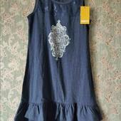 Pepperts платье с гипюровой вставкой 134-140 см
