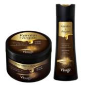 ♡ Шампунь + Маска для волос с кератином и аргановым маслом Visage