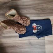 Угги 34-й размер + джинси на 7-8 лет и 2 пары колготок в подарок.