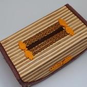 Красивая салфетница из бамбука