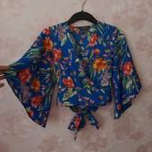 Красивая блуза на запах ! УП скидка 10%