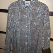 Котоновая рубашка на мальчика 128/134 см!