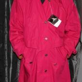 пальто осеннее, плащ, распродажа.цвет красивый вживую,большой размер! 60 см пог, европ. качество!