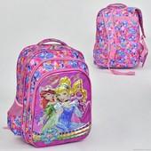 Рюкзак Принцессы Дисней.Рюкзак шкільний 2 відділення, 3 кишені, м'яка спинка
