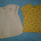 Милейший,нежный наборчик из 2 футболочек,на девочку 5-6 лет