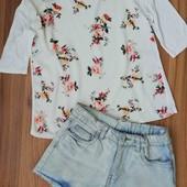 шорти + футболка-блуза