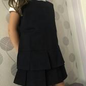 Сарафан для девочки (можно в школу) из плотной ткани 100% хлопок на р. 128 (в лоте- синий!)