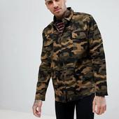 ☘ Куртка в камуфляжному стилі хакі від BoohoMan (Німеччина), розмір: S євро