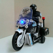 Мотоцикл инерционный со световыми и звуковыми эффектами