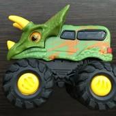 Фирменная инерционная машинка - динозавр. Toy state. Monster trucks!!!! Отличная!!!