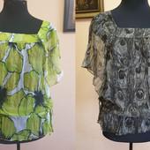 Красивые блузки 100 % шелк и хлопок ТМ Oggi в идеальном состоянии. р. 44-48, одна на выбор