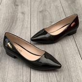 Лаковые туфельки- балеточки Классика ---35размер--23см,37---24 см