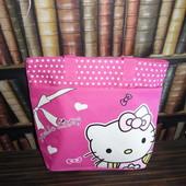 Яркая малиновая пляжная сумочка для юной модницы Hello Kitty, шоппер, сумка для прогулок