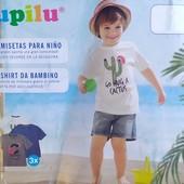 Комплект 3 шт футболки на мальчика Lupilu Германия размер 86/92